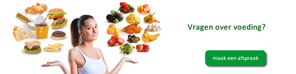 Vragen over voeding? Maak een afspraak met de dietist